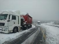 Seydişehir-Antalya Karayolu Kardan Ulaşıma Kapandı