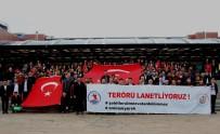 TERÖRE LANET - Ondokuz Mayıs Üniversitesi'nde Teröre Lanet Eylemi Yapıldı