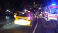 YANGIN TÜPÜ - Unkapanı Köprüsünde Kaza Yapan Araç Yandı