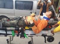 KANALİZASYON KAZISI - Başkentte Kanalizasyon Çalışması Esnasında Göçük Açıklaması 1 Ağır Yaralı