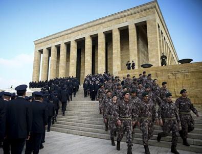 Emniyet teşkilatından Anıtkabir'e ziyaret
