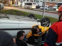 UĞUR MUMCU - Otomobiller Çarpıştı, Otomobillerden Biri Ters Döndü