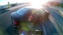 (Özel) Motosikletin Otomobile Çarptığı Anlar Kamerada