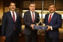 YÜZME YARIŞLARI - Başkan Karabacak, Bakan Bak'ı Makamında Ziyaret Etti