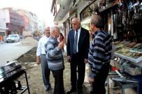 KALDIRIMLAR - Başkan Seyfi Dingil Çalışmaları Yerinde İnceledi