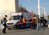 EZİLME TEHLİKESİ - Taksim Metrosunda Yürüyen Merdivenden Düşen Kadın Ezilme Tehlikesi Geçirdi