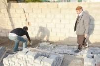 GIRNE - Kahta'da Kaldırım Çalışmaları Sürüyor