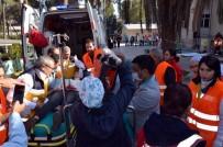 SAĞLIK MESLEK LİSESİ - Manisa'da 7.2 Şiddetinde Deprem Tatbikatı