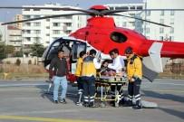 ERCIYES ÜNIVERSITESI - Uçuruma Düşen Adam, Hava Ambulansıyla Hastaneye Kaldırıldı