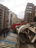 HAFRİYAT KAMYONU - Trabzon'da 24 Saat İçinde Aynı Yerde İkinci Hafriyat Kamyonu Kazası Açıklaması 2 Yaralı