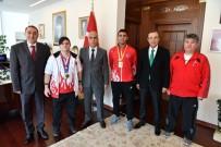 HASAN KARAHAN - Vali Karahan Şampiyon Sporcuları Ağırladı