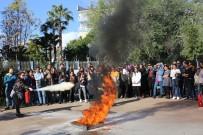 YANGIN TATBİKATI - Akdeniz Üniversitesi'nde Yangın Tatbikatı