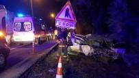 KıNALı - TEM otoyolunda feci kaza: 1 ölü, 2 yaralı