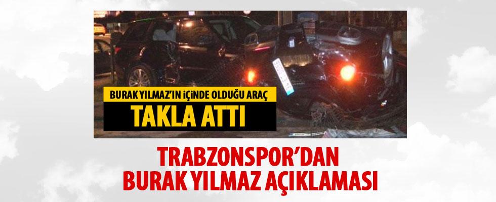 Trabzonspor'dan Burak Yılmaz'a geçmiş olsun mesajı