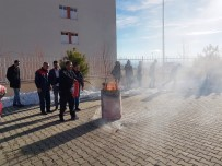 YANGIN TATBİKATI - Adilcevaz KYK'da Yangın Tatbikatı