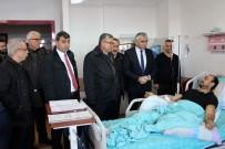 MADEN İŞÇİSİ - Kazalı Maden İşçisine 'Geçmiş Olsun' Ziyareti