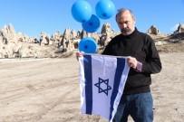 GÖREME - Nevşehir'de Tek Kişilik İsrail Ve ABD Protestosu