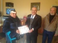 TÜRKIYE SAKATLAR DERNEĞI - Burhaniye'de TSD'den Müdür Bilgin'e Ziyaret