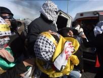 GÖZ YAŞARTICI GAZ - İsrail'in göstericilere müdahalesinde 163 Filistinli yaralandı