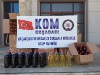 BANDROL - Kuşadası'nda Kaçak Şarap Operasyonu