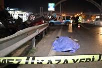 KÖPRÜLÜ - Otomobil Bariyerlere Çarparak Takla Attı Açıklaması 1 Ölü, 3 Yaralı
