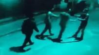 GÜVENLİK GÖREVLİSİ - Özel Harekat Polisinin Karıştığı Bar Çıkışındaki Kavga Güvenlik Kameralarına Yansıdı