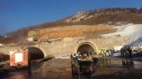 YANGINA MÜDAHALE - Tünel İnşaatında Yangın