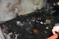 BAŞPıNAR - Dairede Çıkan Yangın Büyümeden Söndürüldü