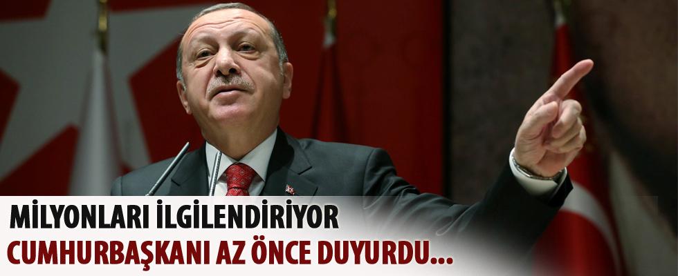 Milyonları ilgilendiriyor! Erdoğan az önce duyurdu CANLI YAYIN