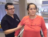 KANSER TEŞHİSİ - Felç Ve Kanser Teşhisi Konulan Kadın Robotik Rehabilitasyonla Yürümeye Başladı