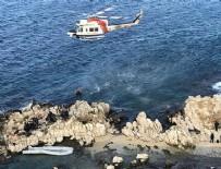 BADEMLI - Göçmenler kayalıklarda mahsur kaldı
