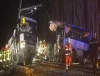 FRANSA - Fransa'da tren ile otobüs çarpıştı: 4 öğrenci hayatını kaybetti, 24 kişi yaralandı