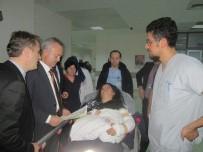 MEHTAP - İl Sağlık Müdürü Öğütlü'den, Ambulans Kazası Yaralılarına Ziyaret