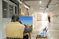 BURHANETTIN KOCAMAZ - Yaya Geçidi Sanat Galerisine Dönüştü