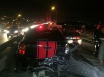 E5 KARAYOLU - 15 Temmuz Şehitler Köprüsü'nde Zincirleme Kaza; 1 Yaralı