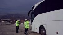 KAR YAĞıŞı - Kastamonu'da Kış Lastiği Denetimlerinde Şoförlere Ceza Yağdı