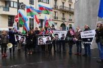 ERMENILER - Paris'teki Ermenistan Büyükelçiliği Önünde Protesto