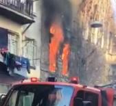 TÜP PATLADI - Beyoğlu'nda 5 Katlı Ahşap Binada Yangın Çıktı