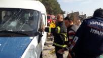 ADıYAMAN ÜNIVERSITESI - Minibüs Yan Yattı Açıklaması 1 Ölü, 2 Yaralı