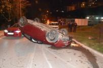 Sinop'ta Otomobil Takla Attı Açıklaması 2 Yaralı