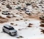 KAR YAĞıŞı - Çöle kar yağdı