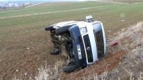 YOZGAT - Yozgat'ta Öğrenci Servis Minibüsü Devrildi Açıklaması 13 Yaralı