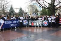 KAYMAKÇı - Çankırı'daki Eğitimcilerden Protesto