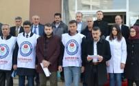 KAYMAKÇı - Eğitimcilere Yapılan Şiddet Erciş'te Protesto Edildi