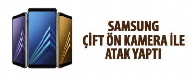 Samsung A8'de çift ön kamera ile telefonda atak yaptı
