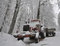 YAĞIŞLI HAVA - Trakya'da kar yağışı etkili oluyor