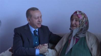 Cumhurbaşkanı Erdoğan Nevmiye teyzeye misafir oldu