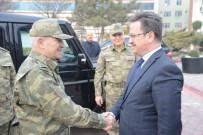 ENVER ÜNLÜ - 3. Ordu Komutanı Orgeneral İsmail Serdar Savaş, Iğdır Valisi Enver Ünlü'yü Ziyaret Etti