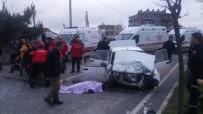 Balıkesir'de Trafik Kazası Açıklaması 2 Ölü, 4 Yaralı