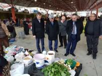 PAZAR ESNAFI - Yığılca'da Başkanlar Pazar Yerini Gezdi